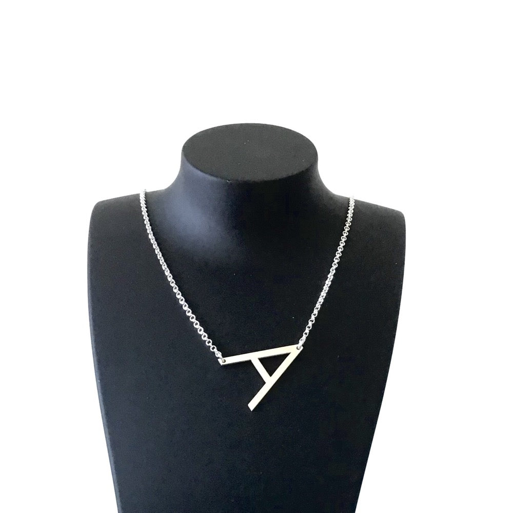 Initial Letter Necklace - Agora Jewellery London