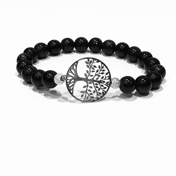 Tree of Life and Blue Moon Stone Bracelet