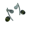 Sterling Silver and Swarovski Pauli Earrings - AG Agora Jewellery London