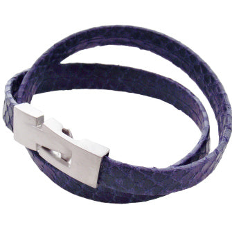 Liberty Leather Bracelet - Violet - AG Agora Jewellery London