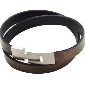 Liberty Leather Bracelet - Olive Green - AG Agora Jewellery London