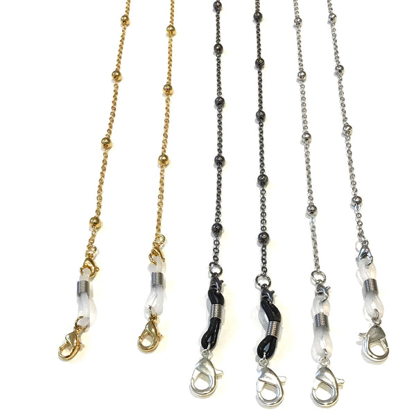Face Mask Chain - Gold - Silver & Oxidese
