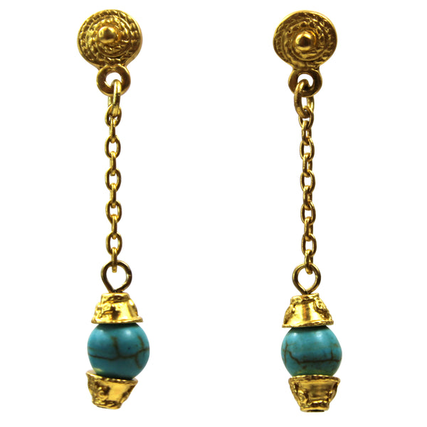 Monserrat Gemstone Drop Earrings