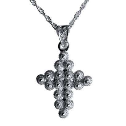 Filigree Cross Pendant Necklace - Agora Jewellery London