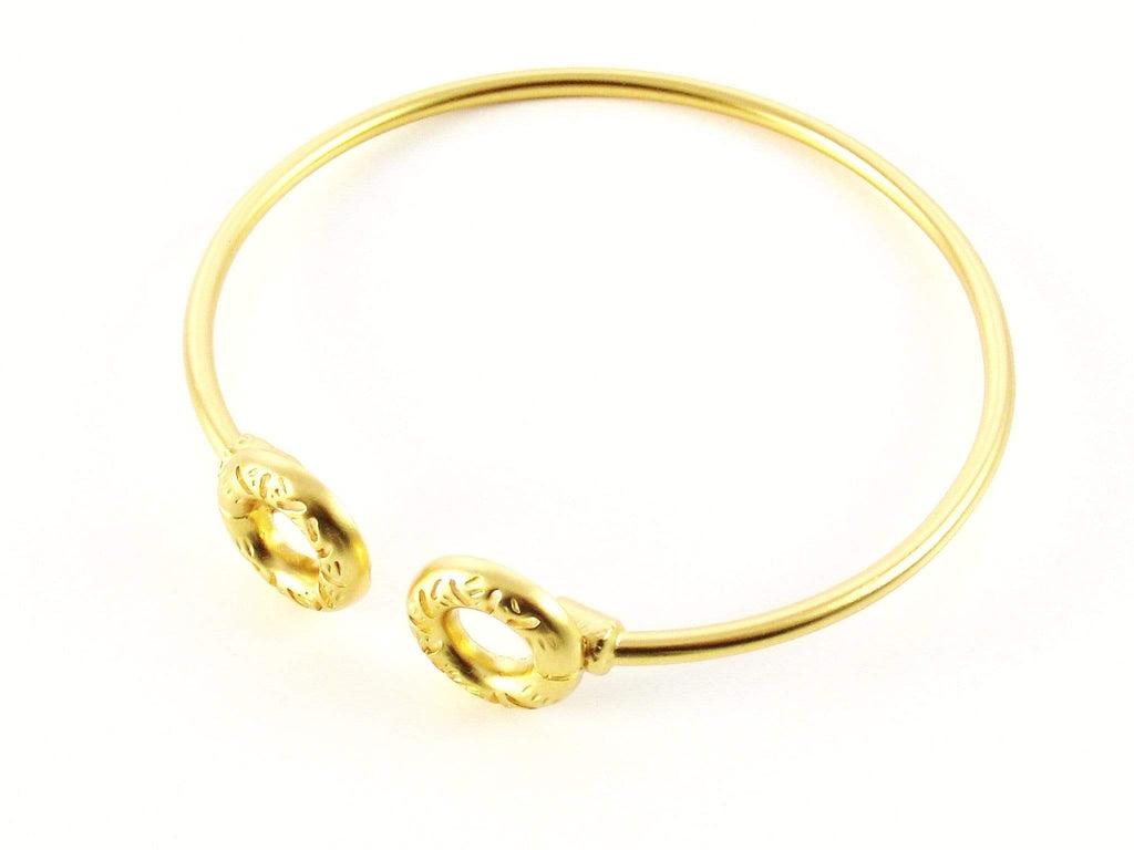 Gold Bangle Bracelet - Agora Jewellery London