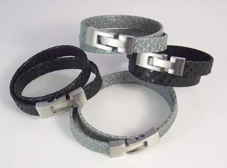 Snake Leather Bracelet - Agora Jewellery London