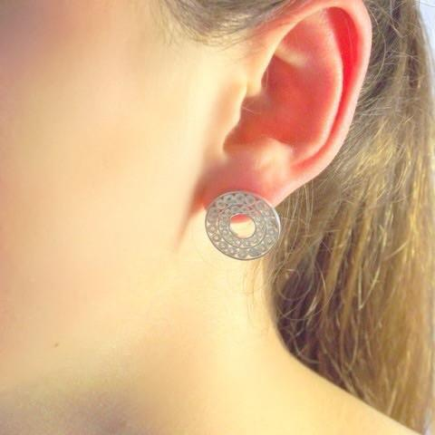 Small Tambourine Earrings - Agora Jewellery London