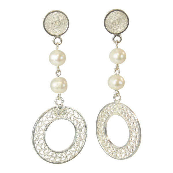 Agora Earrings Filigree Venus Earrings with Pearl Venus Earrings