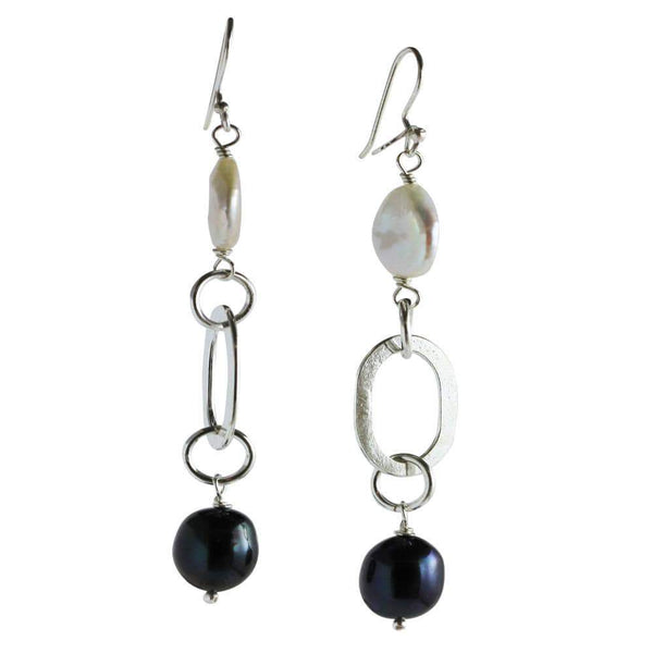 Black Pearl Earrings - Agora Jewellery London