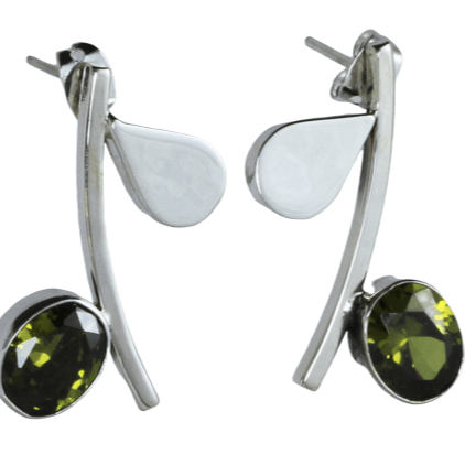 Silver Pauli Earrings - Agora Jewellery London