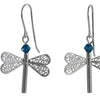 Dragonfly Swarovski Earrings - Agora Jewellery London
