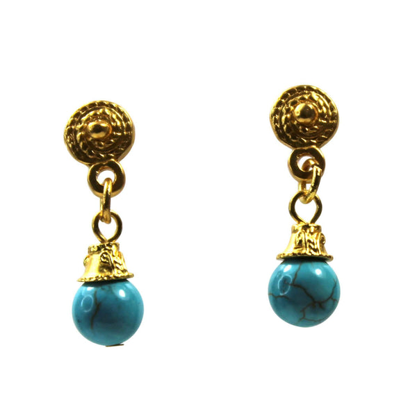 Gemstone Nicole Earrings - Agora Jewellery London