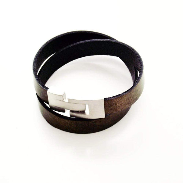 Liberty Leather Bracelet - Metal Bronze - Agora Jewellery London