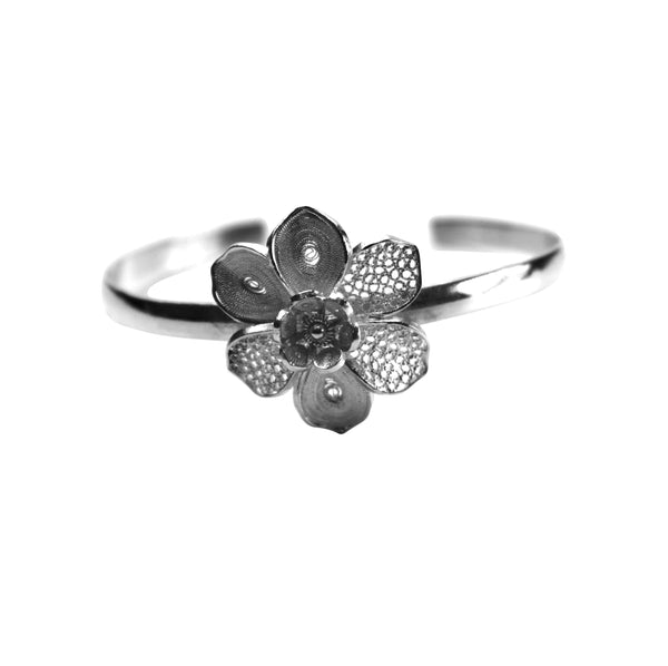 Filigree Flower Bangle - Agora Jewellery London