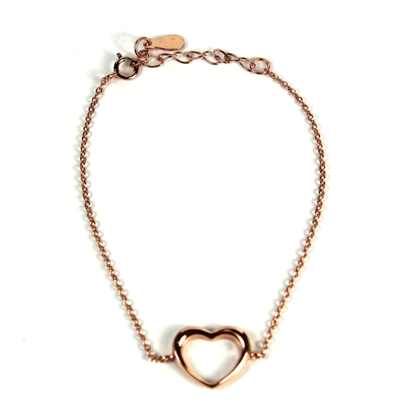 Agora Jewellery London Bracelet Rose Gold Heart Bracelet