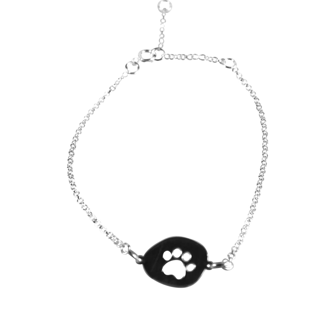 Silver Paw Bracelet - Agora Jewellery London
