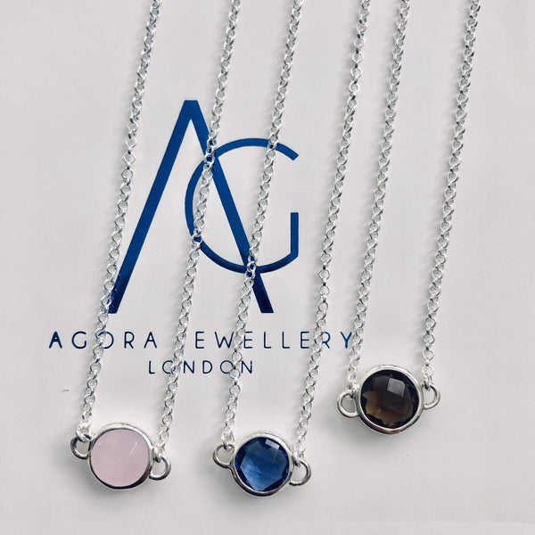Single Stone Bracelets - Agora Jewellery London