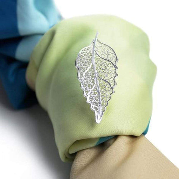 Agora Jewellery London Brooch Filigree Leaf Brooch