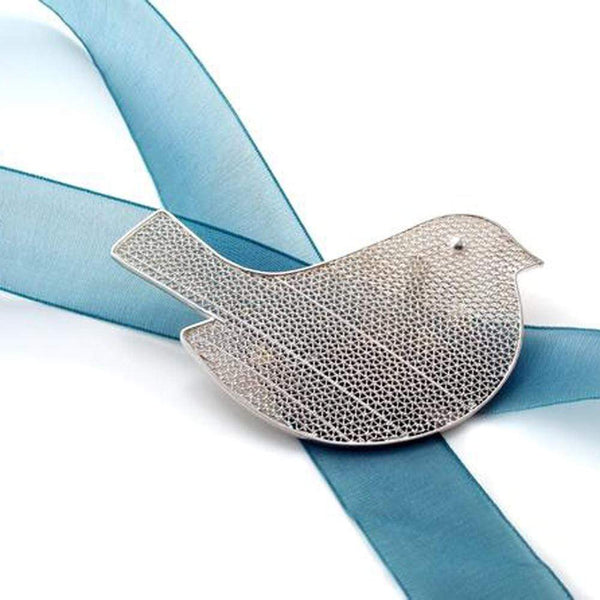 Filigree Robin Brooch - Agora Jewellery London