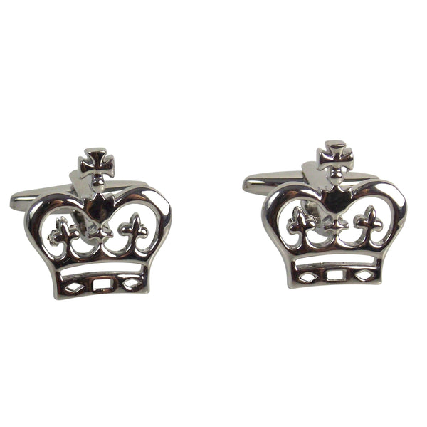 Crown Cufflinks - Agora Jewellery London