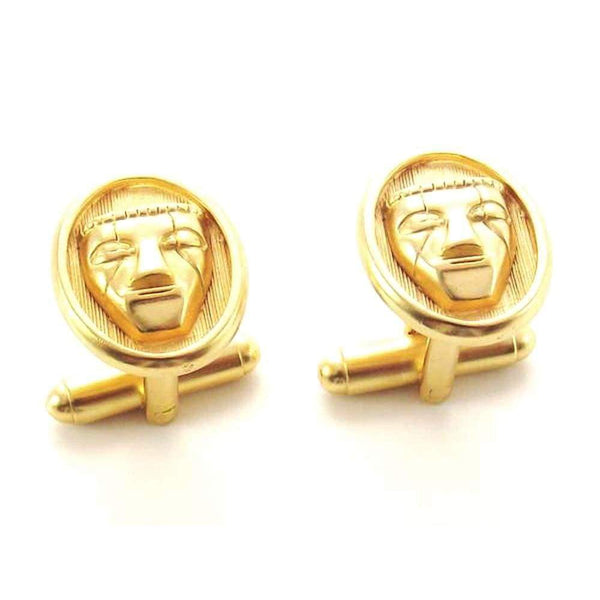 Round Mask Cufflinks - Agora Jewellery London