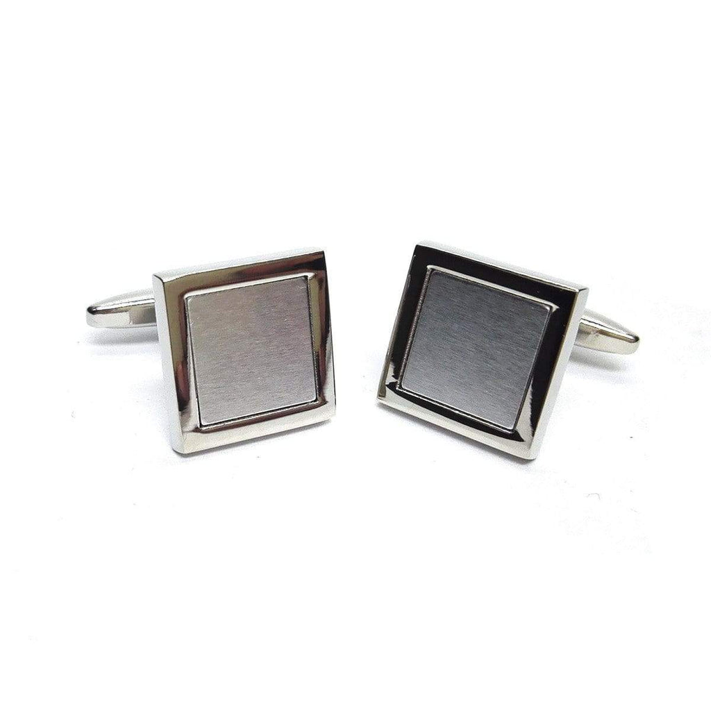 Square Silver Cufflinks - Agora Jewellery London