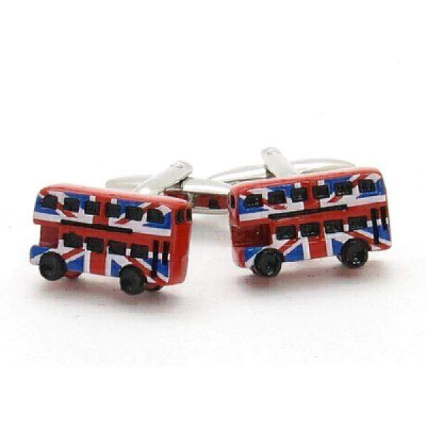 Union Jack Bus Cufflinks - Agora Jewellery London