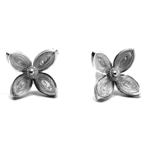 Agora Jewellery London Earrings Filigree Clover Studs Earrings