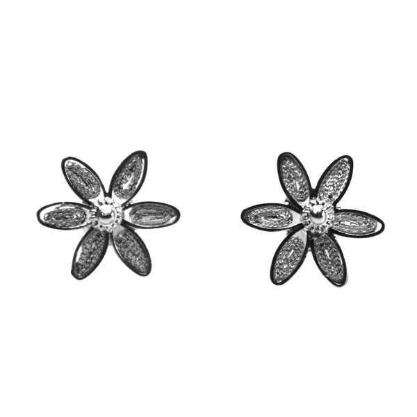 Filigree Daisy Studs - Agora Jewellery London