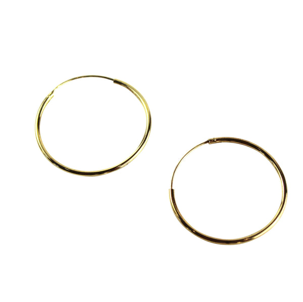 Gold Hoops - Agora Jewellery London
