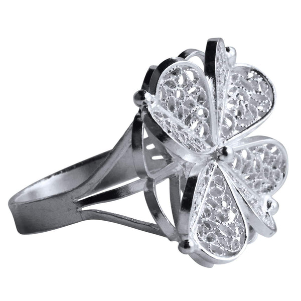 Filigree Clover Ring - Agora Jewellery London