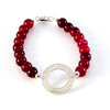 Agora Jewellery London Gemstone Bracelete - 8mm Filigree Red Jade Bracelet