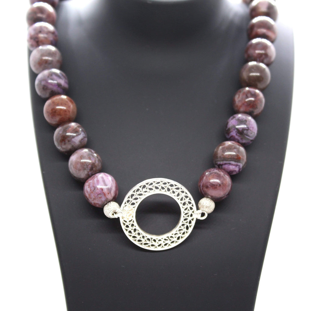 Agora Jewellery London Gemstone Filigree and Brown Agate Brown Agate Necklace