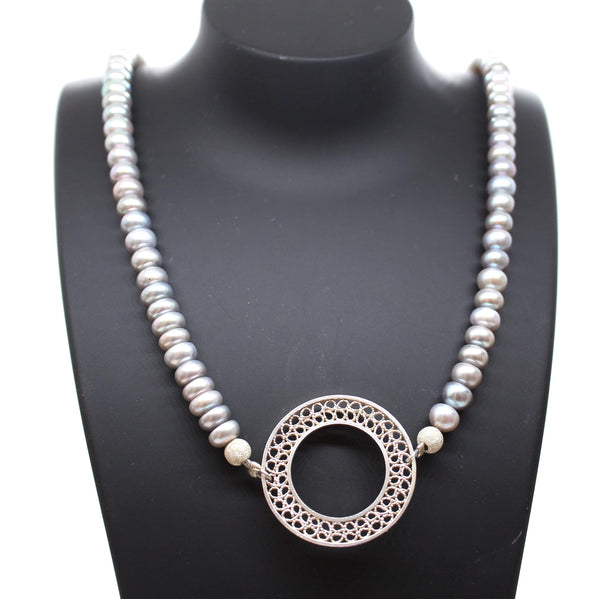 Grey Pearls Necklace - AG Agora Jewellery London