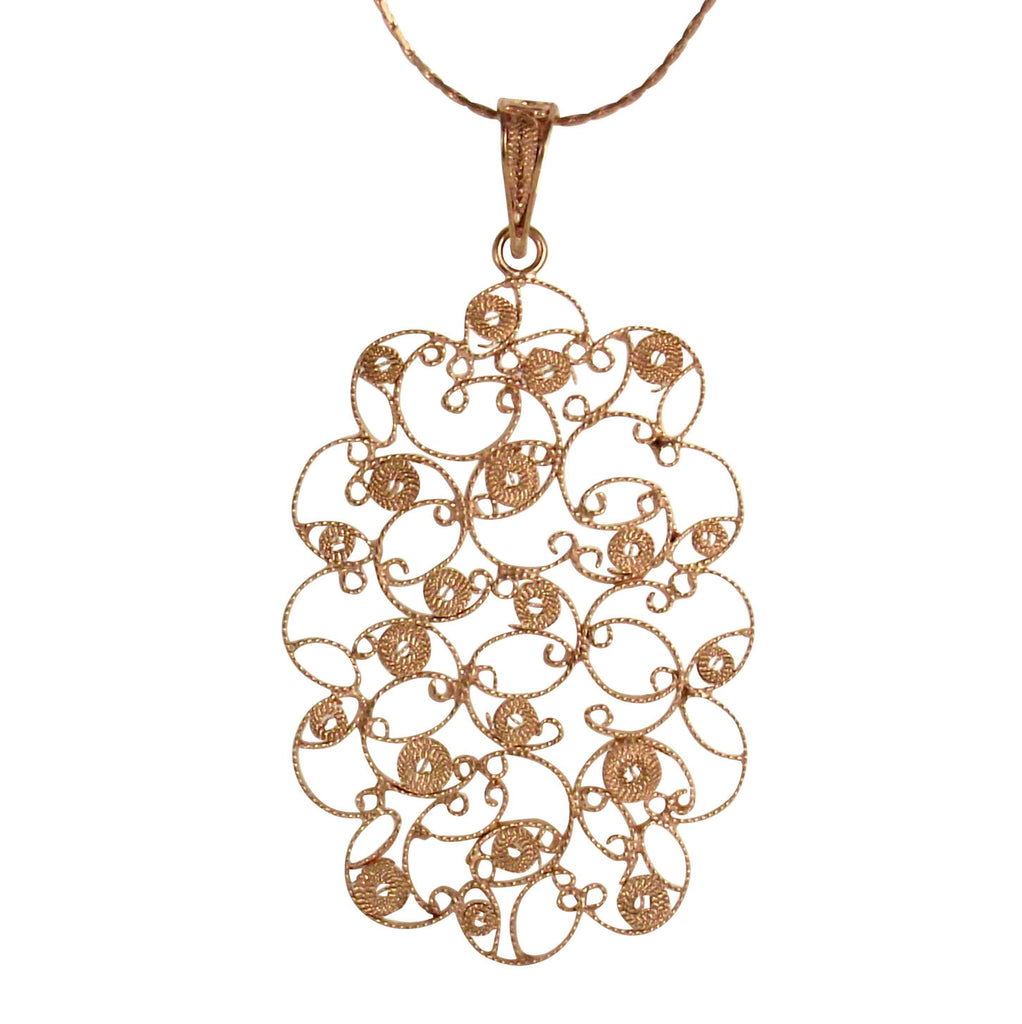 Filigree Adele Pendant - Agora Jewellery London