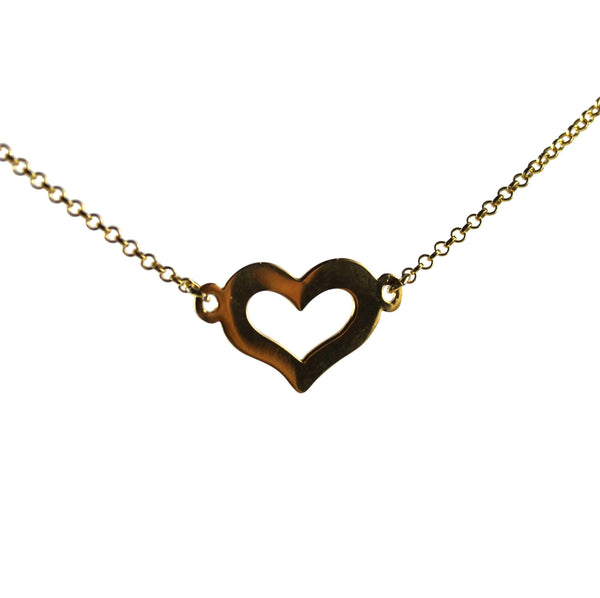 Agora Jewellery London Necklaces Gold London Gold Heart Necklace