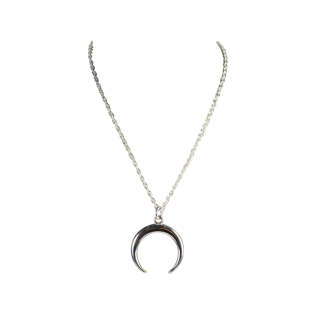 Silver Moon Necklace - Agora Jewellery London