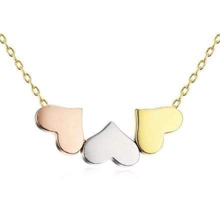Agora Jewellery London Necklaces Three Heart Necklace