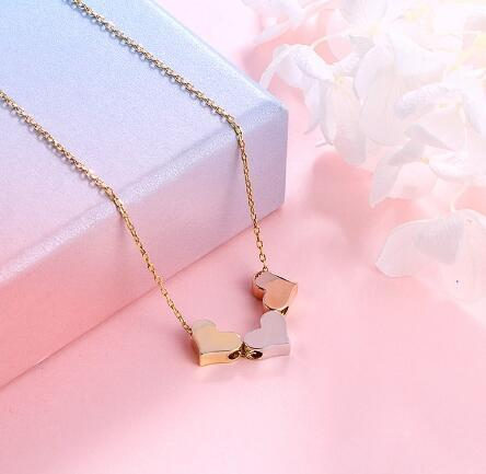 Three Heart Necklace - Agora Jewellery London