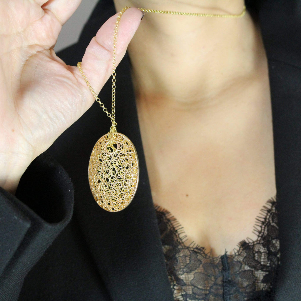 Filigree Andalusia Pendant - Agora Jewellery London
