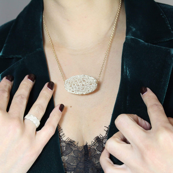 Filigree Cocoon Pendant - Agora Jewellery London