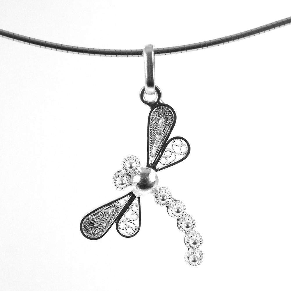 Filigree Dragonfly Pendant - Agora Jewellery London