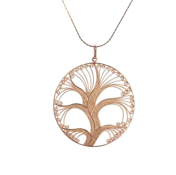 Agora Jewellery London Pendant Filigree Rose Gold Tree of Life