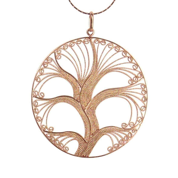 Filigree Rose Gold Tree of Life - Agora Jewellery London