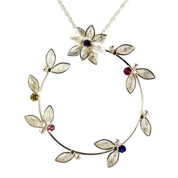 Flower Crown Pendant - Agora Jewellery London