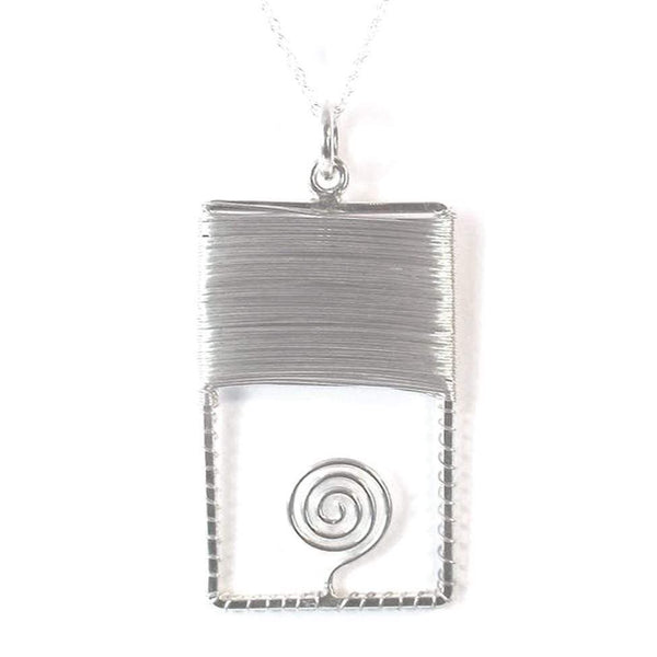 Rectangle Spiral Pendant - Agora Jewellery London
