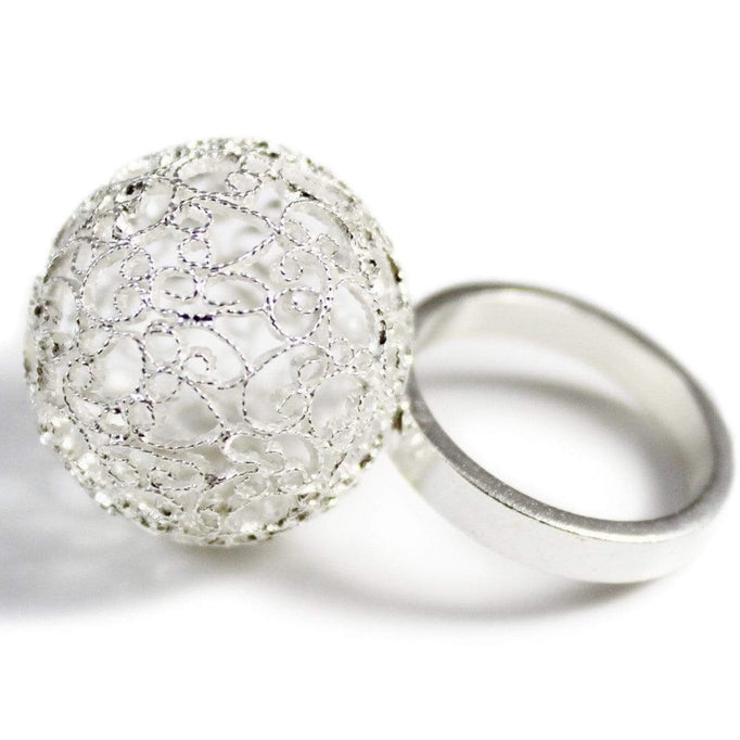 Filigree Snowflake Ring - Agora Jewellery London