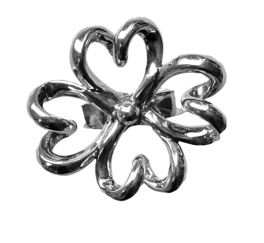 Silver Four Heart Ring - Agora Jewellery London