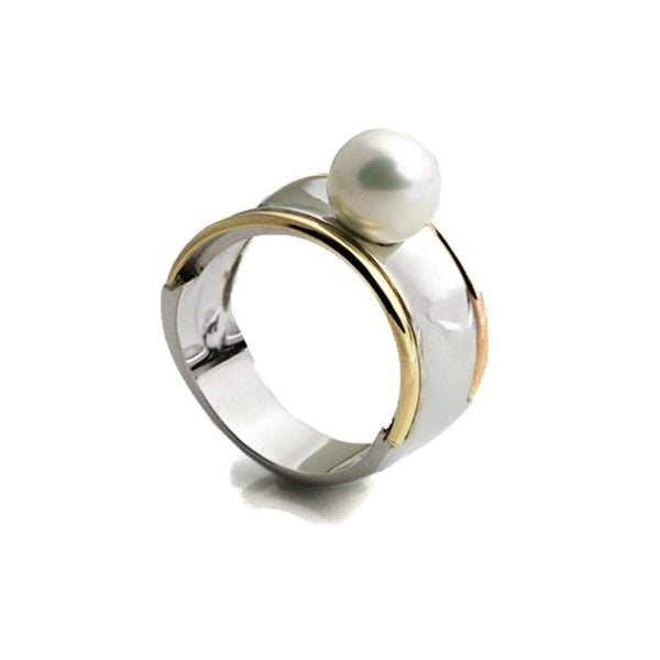 Silver and Gold Grace Ring - Agora Jewellery London
