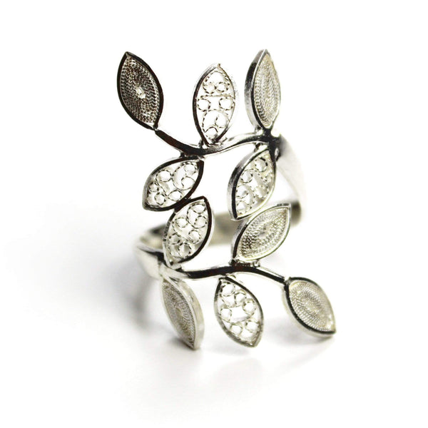 Agora Jewellery London Rings Leaf Ring